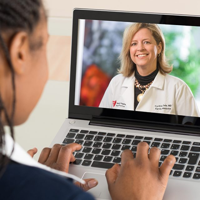 Doctor on the video call
